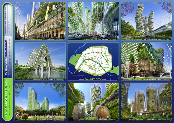 Project: 'Paris 2050 - Smart City' by Vincent Callebaut Architectures